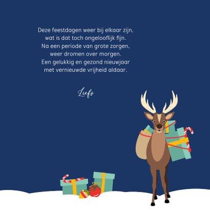 Fijne feestdagen vanuit deze grappig kerst eend 3