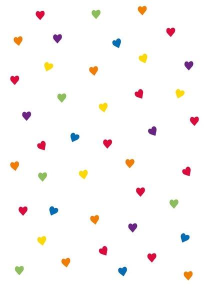 Fijne Valentijnsdag met alle kleuren  hartjes en eigen naam 2