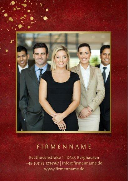 Firmen-Weihnachtskarte Christbaumkugel Weihnachtswünsche 2