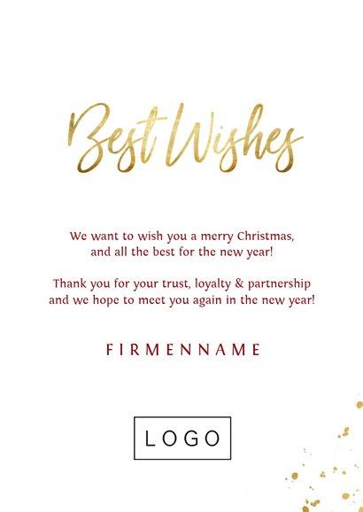 Firmen-Weihnachtskarte Christbaumkugel Weihnachtswünsche 3
