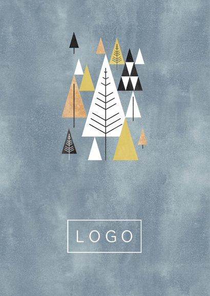 (Firmen-)Weihnachtskarte grafische Weihnachtsbäume 2