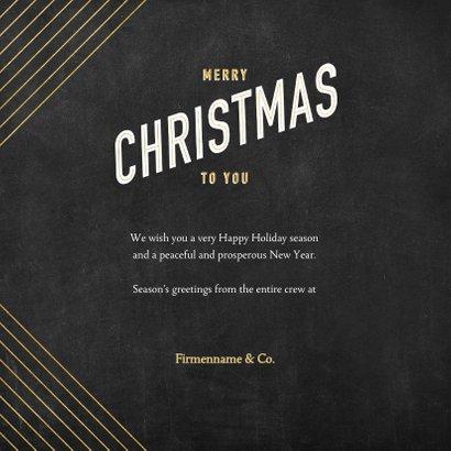 Firmen-Weihnachtskarte international in Art Deco-Stil 3