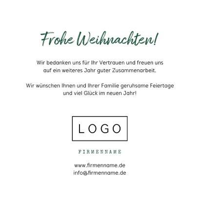 Firmen-Weihnachtskarte mit illustriertem Weihnachtsbaum 3