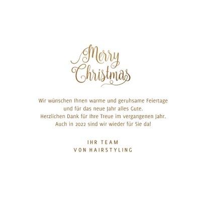 Firmenkarte Weihnachten Gold & Glitzer 3