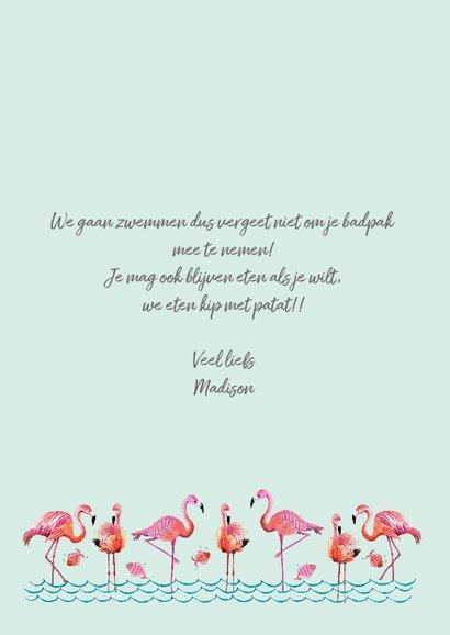 Flamingo Kinderfeestje met water en vissen 3