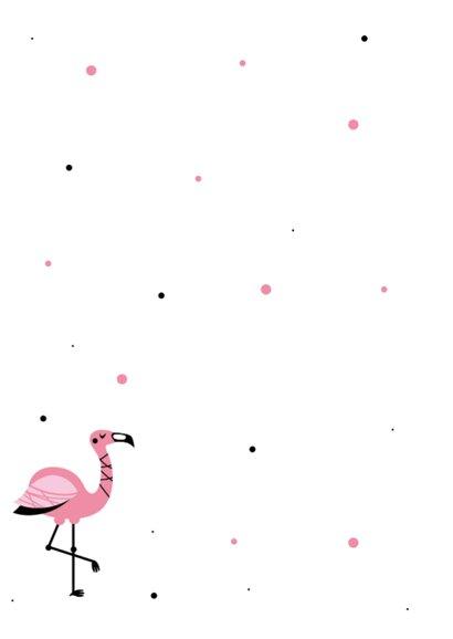 Flamingo uitnodiging voor een kinderfeestje  2