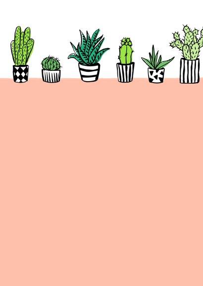 Fleurig kaartje cactus plantjes 2