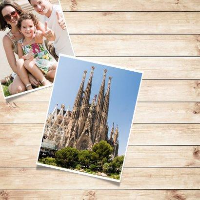 Foto collage kaart - vakantie  2