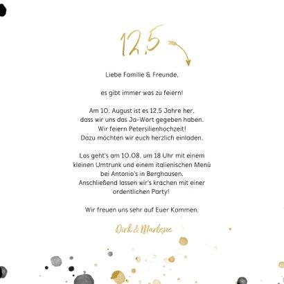 Foto-Einladungskarte 12,5 Jahre verheiratet 3