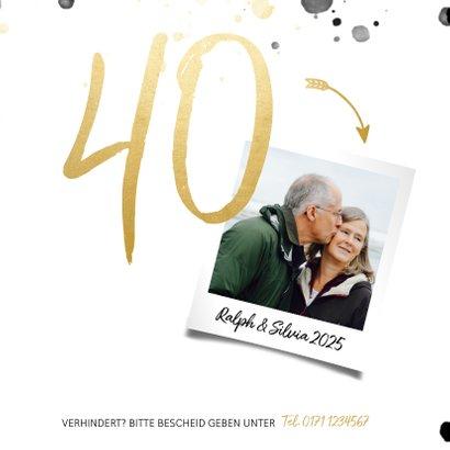 Foto-Einladungskarte 40 Jahre verheiratet 2
