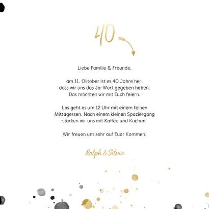Foto-Einladungskarte 40 Jahre verheiratet 3
