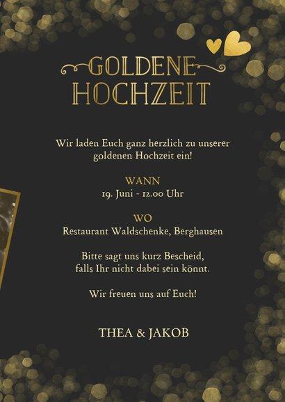 Foto-Einladungskarte zur goldenen Hochzeit 3