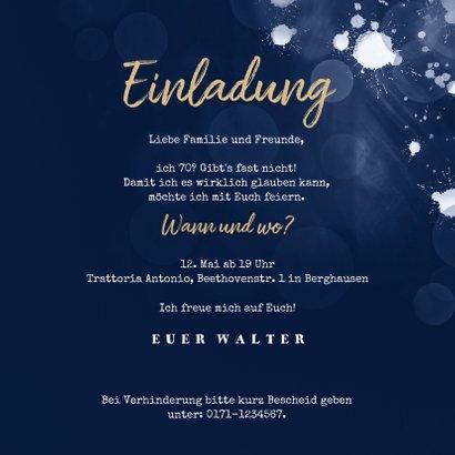 Foto-Einladungskarte zur Party dunkelblau 3
