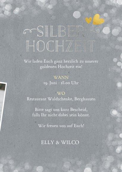 Foto-Einladungskarte zur Silberhochzeit 3