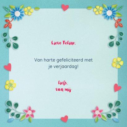 Foto felicitatiekaart met bloemen 3
