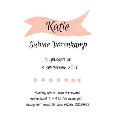Foto geboortekaartje met illustraties 3