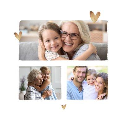 Foto-Grußkarte mit Herzen 'Liebe Oma' 2