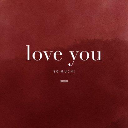 Foto-Grußkarte rot love you 3