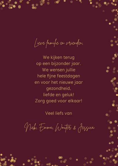 Foto kerstkaart 4 foto's 'Warm wishes' 3