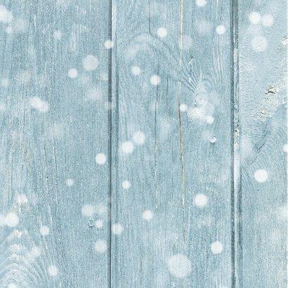 Foto kerstkaart blauw ster 2