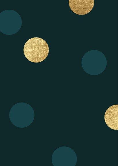 Foto kerstkaart confetti patrol en goud 2