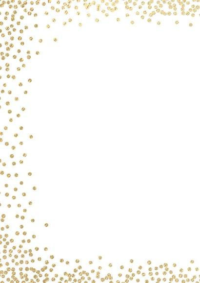 Foto kerstkaart witte dots confetti 2