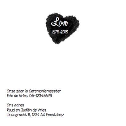 Foto uitnodiging 40 jaar getrouwd met wolk hart 2