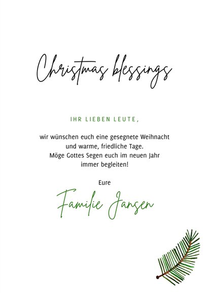 Foto-Weihnachtskarte 'Christmas blessings' 3