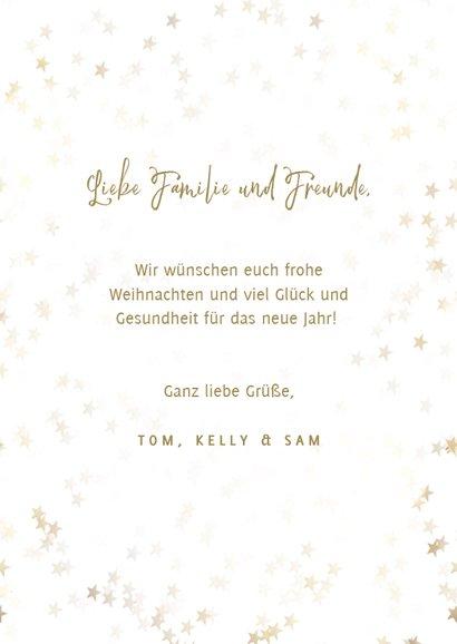 Foto-Weihnachtskarte goldene Sterne Merry Christmas 3