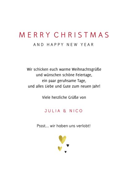 Foto-Weihnachtskarte Merry Xmas 3
