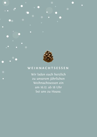 Foto-Weihnachtskarte mit Schneeflocken 2