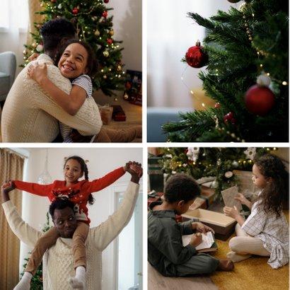 Foto-Weihnachtskarte vier Fotos 2