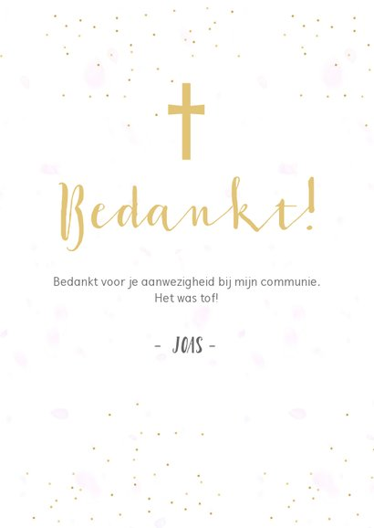 Fotocollage communie bedankkaartje met 3 foto's 3