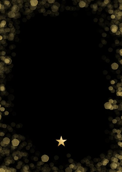 Fotocollage kerstkaart met 9 foto's en goudlook Christmas Achterkant