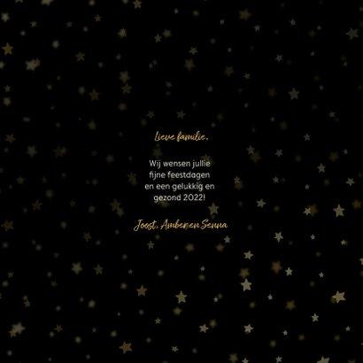 Fotocollage kerstkaart sterren goudaccent 3