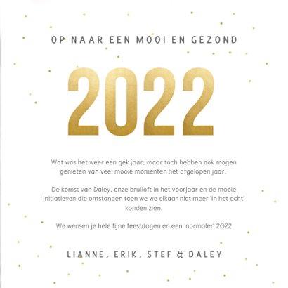 Fotocollage kerstkaart terugblik op 2021 met eigen foto's 3