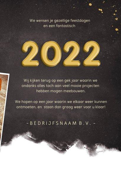 Fotocollage polaroids zakelijke kerstkaart jaartal 2022 3