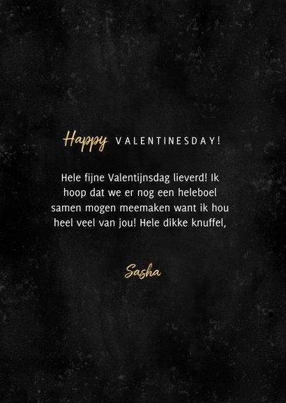 Fotocollage Valentijnskaart gouden LOVE en hartjes 3