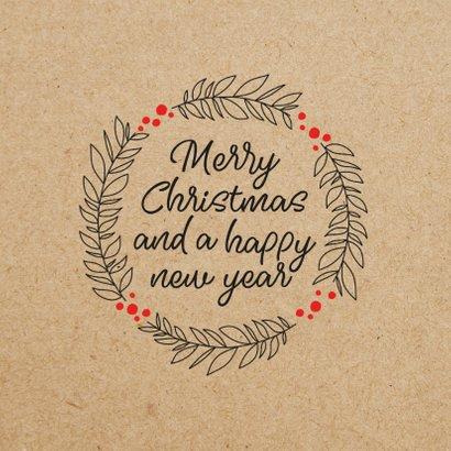 Fotocollage-Weihnachtskarte Kraftpapier 2