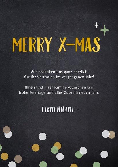 Fotocollage-Weihnachtskarte Merry X-Mas geschäftlich 3
