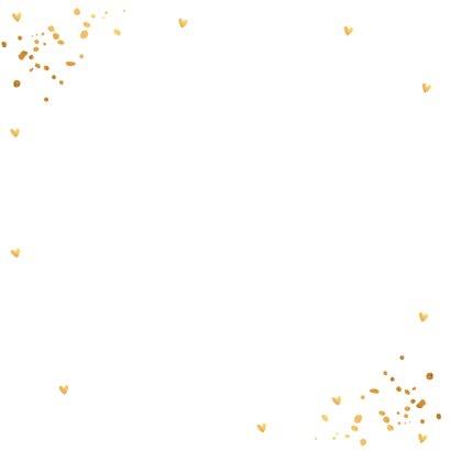 Fotocollage wit goud confetti kerstkaart  2