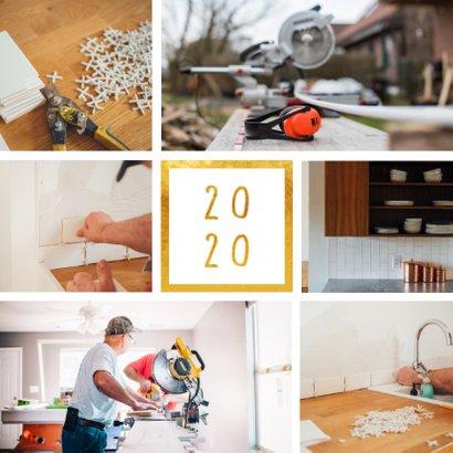 Fotokaart '2020' met 6 foto's vierkant 2