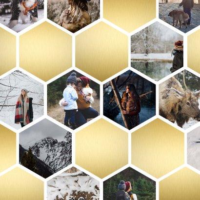 Fotokaart collage geometrische vlakken honingraat 2