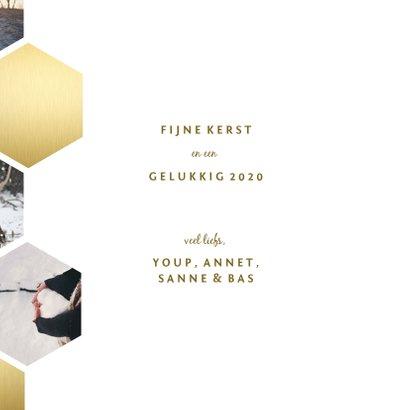 Fotokaart collage geometrische vlakken honingraat 3