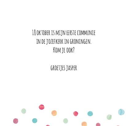 Fotokaart communie met stippen 3