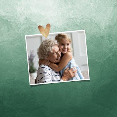 Fotokaart dikke knuffel waterverf gouden hartjes 2