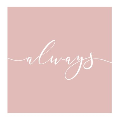 Fotokaart fotocollage 'Always' 2