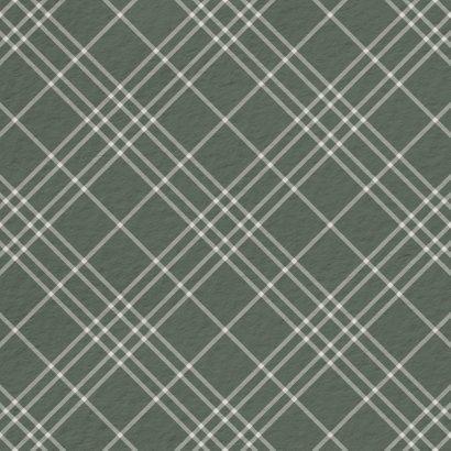 Fotokaart groen ruitpatroon met polaroid foto 2