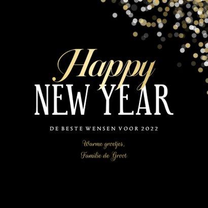 Fotokaart grote foto Happy new Year confetti 3