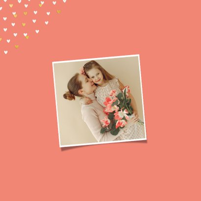 Fotokaart grote foto vrolijk pasen hartjes 2